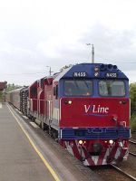 N455 on down Warnambool train
