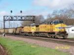 UP 5740 pulls coal loads eastbound