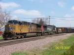 UP 5770 leads coal empties west