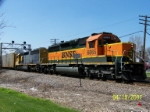 BNSF 6865 leads eastbound