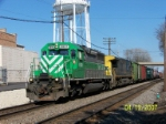 FURX 3037 leads BNSF westbound