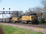 UP 6825 leads coal loads east