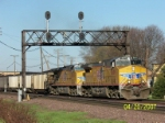 UP 5609 leads coal loads east