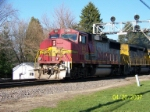 Santa Fe 158 leads eastbound grain train