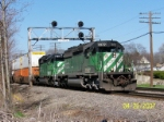 Set of SD40-2's leads eastbound