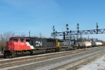 CN 5608 leads freight by Homewood, IL platform