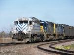 Lease engine 3074 leads CSX Coke train