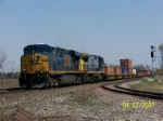 CSX 5338 leads westbound stack at Wellsboro