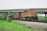 BNSF 4571 rolling under Hwy 141
