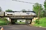 AMTK 85 on Fillmore bridge