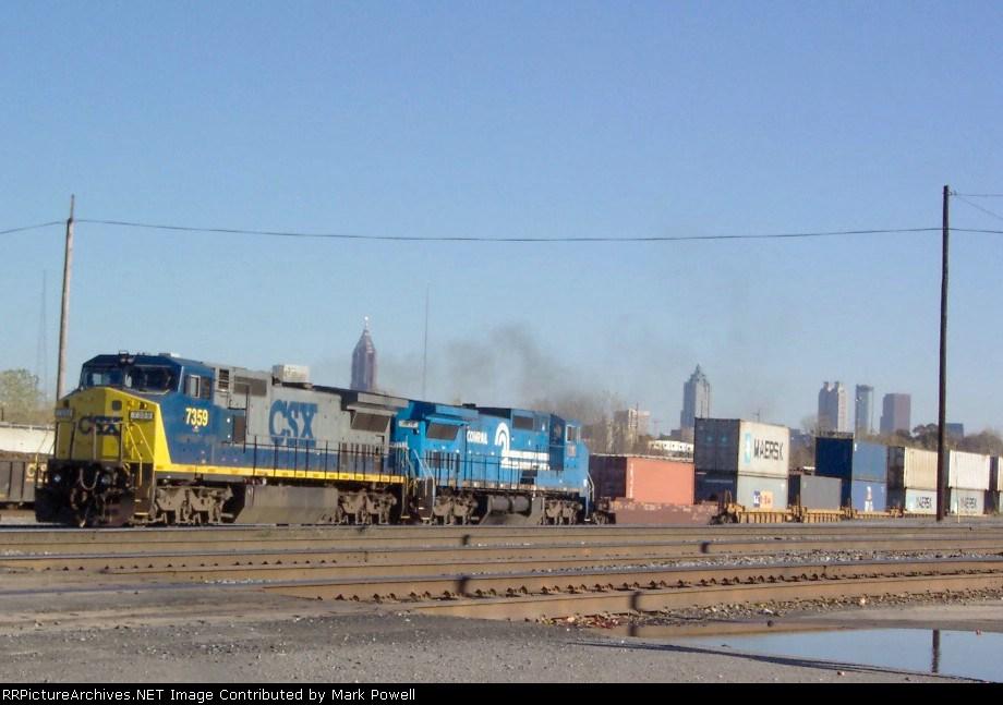 CSX 7359 on Q124 heading north