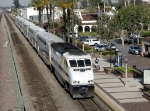 Southbound Metrolink commuter train(F59PHI locomotive)