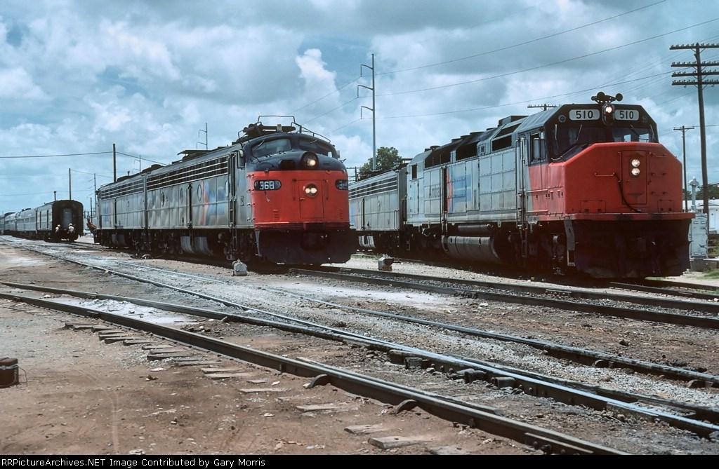 Amtrak E and SDP40F units
