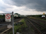 GOT 522 & GOT 552 WITH CN FREIGHT DURING LULL IN THE STORM