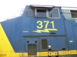 CSX 371 Cabside