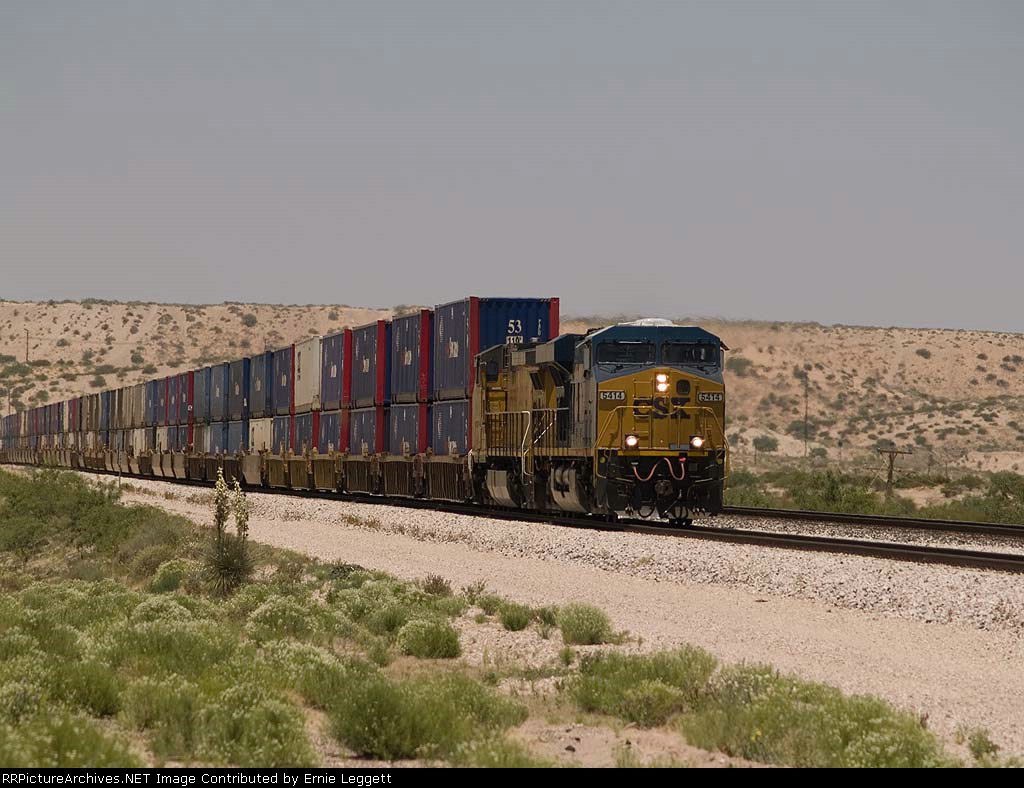 UP 5414 leads an EB intermodal (KCIAT) at 12:33pm