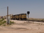 UP 4551 leads an EB intermodal at 12:02pm