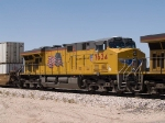 UP 7634 #2 power in an EB intermodal at 1:56pm