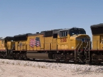 UP 5018 #2 power in an EB intermodal at 2:15pm