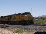 UP 5296 leads a a WB intermodal at 11:56am