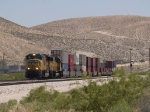 UP 3869 leads a WB intermodal at 1:13pm