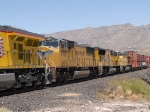 UP 4709 #2 power in a WB intermodal at 1:35pm