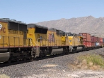 UP 5186 #3 power in a WB intermodal at 1:35pm