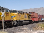 UP 7600 #4 power in a WB intermodal at 1:35pm