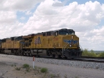 UP 5308 leads an EB intermodal at 1:56pm