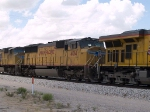 UP 4014 #2 power in an EB intermodal at 1:56pm
