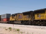 UP 4751 #4 power in an EB intermodal at 1:46pm