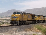 UP 5285 leads a WB intermodal at 1:37pm
