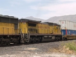 UP 9102 #4 power in a WB intermodal at 1:37pm