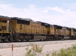 UP 4557 #4 power in an EB intermodal at 12:00