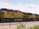 UP 9689 #5 power in an EB intermodal at 12:00