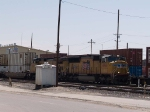 UP 4966 leads a WB intermodal at 11:47am