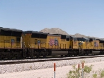 UP 4971 #2 power in a WB intermodal at 1:00pm