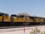 UP 4761 #3 power in a WB intermodal at 1:00pm