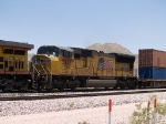 UP 3935 #5 power in a WB intermodal at 1:00pm