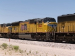 UP 3843 #2 power in an EB intermodal at 1:33pm