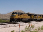 UP 4680 leads a WB intermodal at 1:45pm