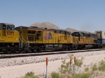UP 7607 #3 power in a WB intermodal at 1:45pm