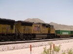UP 5221 #4 power in a WB intermodal at 12:34pm