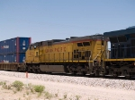 UP 9802 #2 power in an EB intermodal (KCIAT) at 12:33pm