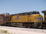 UP 5477 #2 power in an EB autorack at 12:48pm