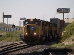 UP 4577 waiting for a crew change for his intermodal at 4:24pm
