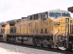 UP 6796 #2 power in an EB grain train at 12:11pm