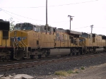UP 5541 #2 power in a WB intermodal at 12:45pm