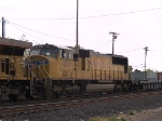 UP 4104 #3 power in a WB intermodal at 12:45pm