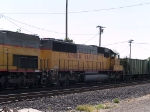 UP 2175 #2 power in a WB work train at 10:14am